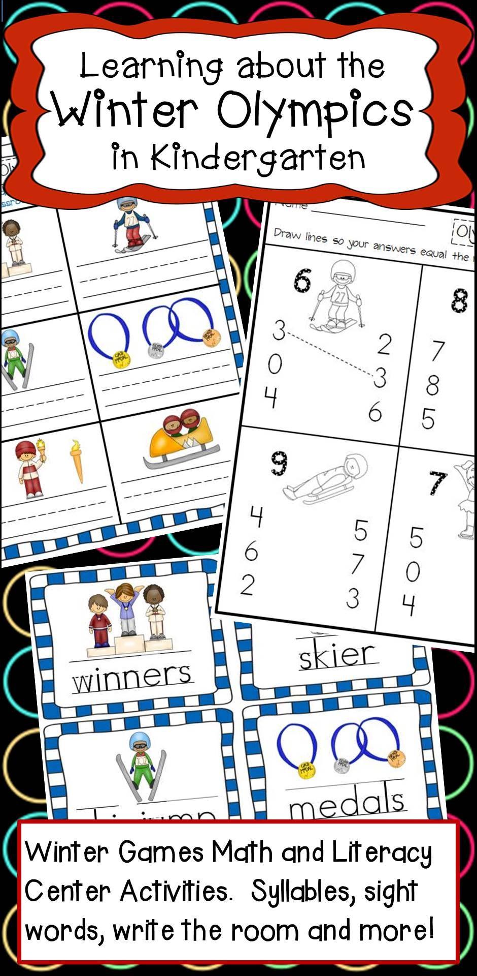 Kindergarten Winter Olympics Literacy And Math Activities Kindergarten Math Activities Winter Kindergarten Winter Olympics [ 1920 x 940 Pixel ]