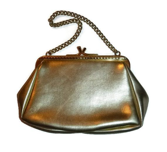 SALE Vintage Gold Purse EATONS Evening Bag, Made in England Cocktail Bag, 1950s 60s Handbag Bridal Wedding Purse, Hollywood Glam, Mad Men Fa