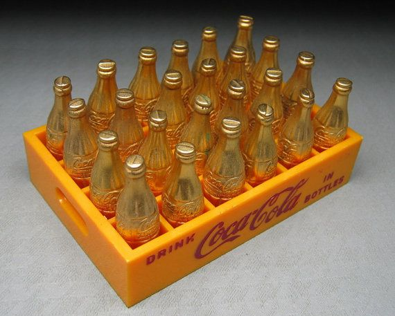 vintage COCA COLA 24 little gold miniature by jumpinacrater