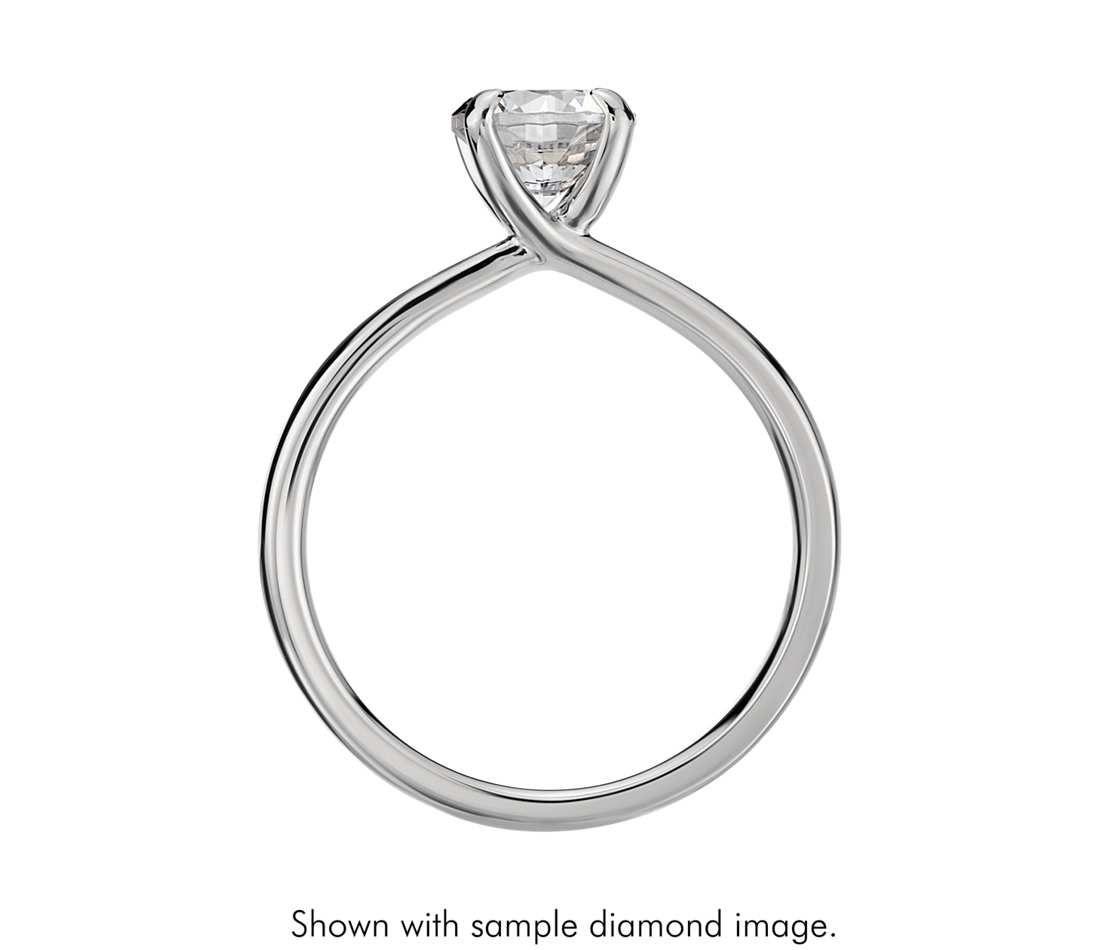 Monique Lhuillier Amour Solitaire Engagement Ring In Platinum Blu In 2020 Round Solitaire Engagement Ring Solitaire Engagement Ring Monique Lhuillier Engagement Ring