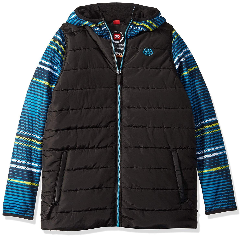 Boys Heater Insulated Jacket Waterproof Ski Snowboard Jacket Bluebird Stripes C1180rq5dta Size X Small Insulated Jackets Snowboard Jacket Outdoor Outfit