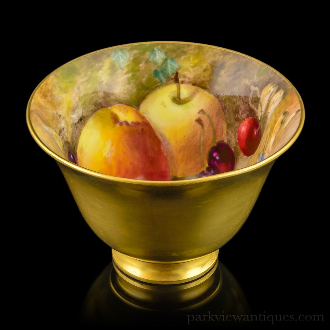 Royal Worcester Fruit Painted Sugar Bowl by William Ricketts C. 1923 ...