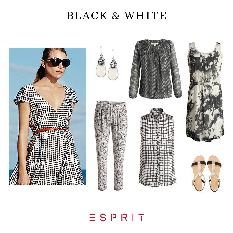 The success story of the contrast classic continues: Get inspired by exciting prints and strong statement pieces in black & white! #Esprit