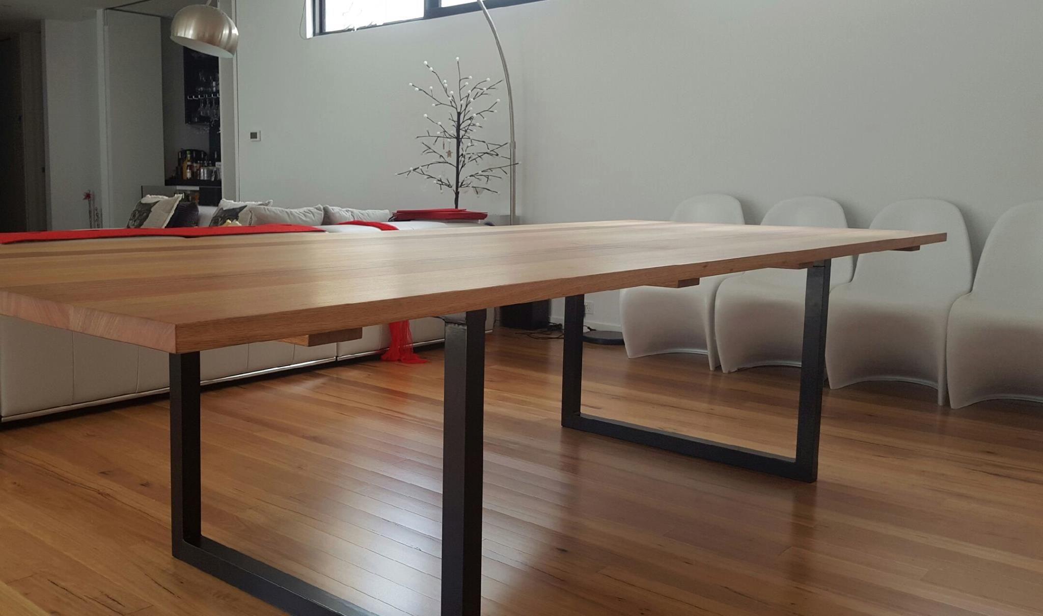 Superior Woodspoke Dining Table. Three Metres Of Gorgeous Vic Ash On Powder Coated  Aluminium Legs