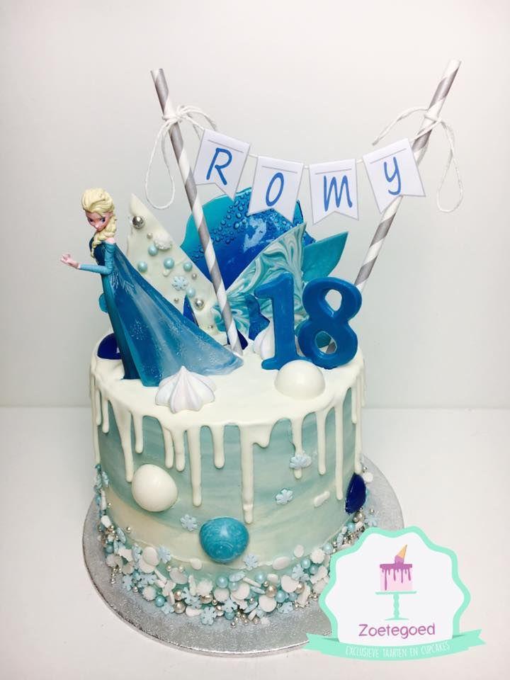 Admirable Frozen Disney Drip Cake Birthday Drip Cake Frozen Birthday Cake Funny Birthday Cards Online Alyptdamsfinfo