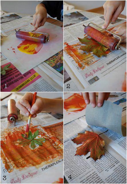 impression de feuilles sur tissu