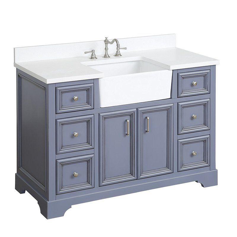 Zelda 48 Single Bathroom Vanity Set Farmhouse Vanity 48 Inch Bathroom Vanity Single Bathroom Vanity