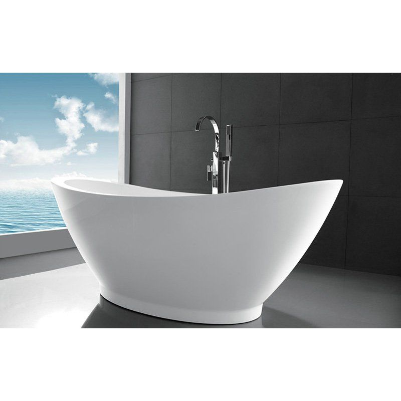 Legion Furniture WE6845 Acrylic 69 in. Freestanding Slipper Bathtub ...