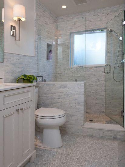 San Francisco Traditional Bathroom Half Wall Design Pictures