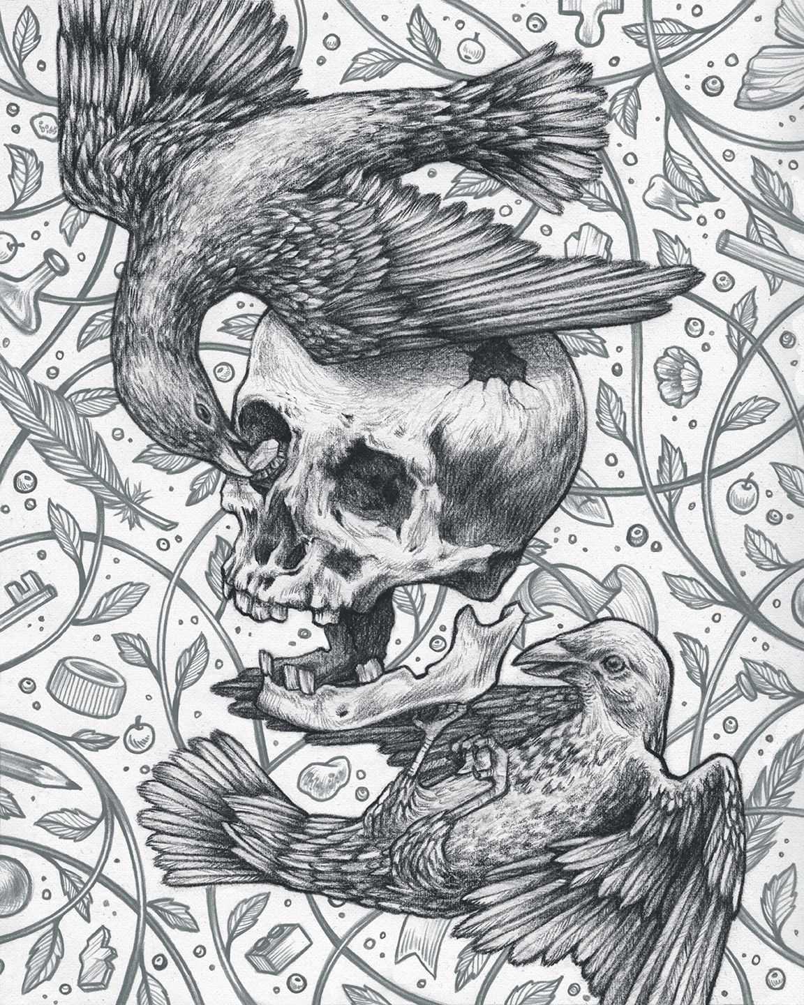 Bowerbirds on Behance colouring in pages Pinterest Behance