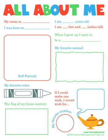 All About Me Worksheet Pack | Worksheets, Language arts and ...