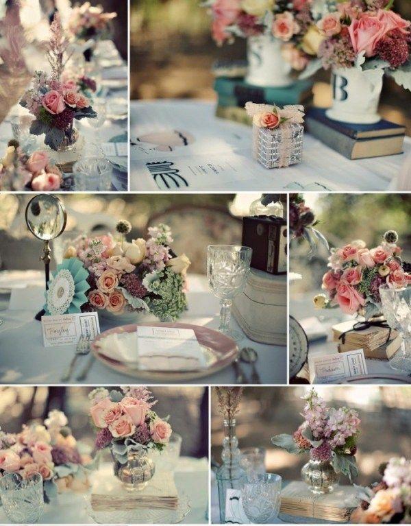 Érase una vez un centro de mesacon cinco sencillas 'Petites fleurs'. No hizo falta más para encandilar a los invitados... porque muchas veces la esencia se sirve en frascos pequeños. Los CENTROS ...
