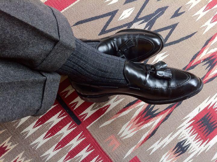 Allen Edmonds Grayson Tasseled Dress Loafers Worn With Heavy Wool