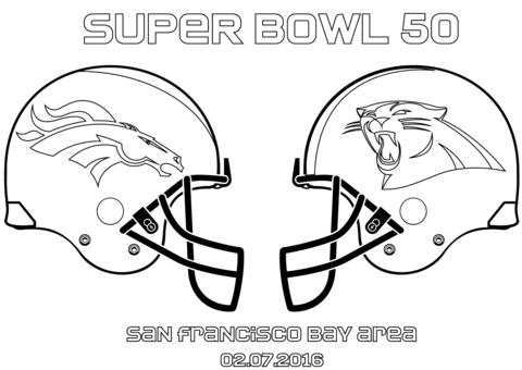 Ausmalbilder Von Carolina Panthers Ausmalbild Super Bowl 50 Carolina Panthers Vs Denver Broncos Druckbar Super Bowl