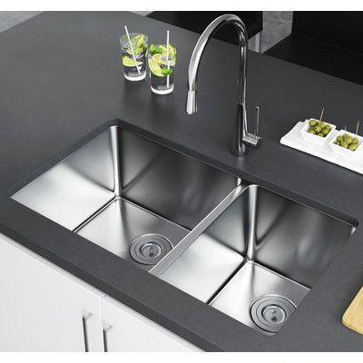 exclusive heritage 33 x 20 double bowl undermount kitchen sink rh pinterest com