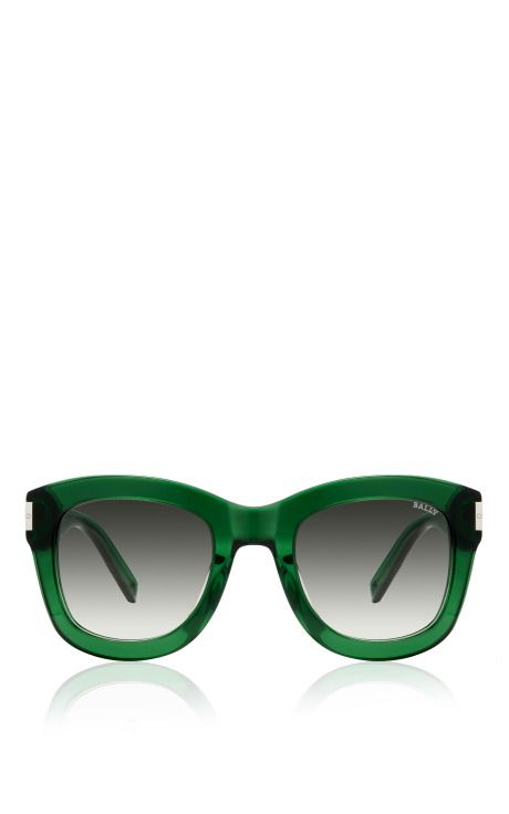 Green Acetate Sunglasses by Bally for Preorder on Moda Operandi