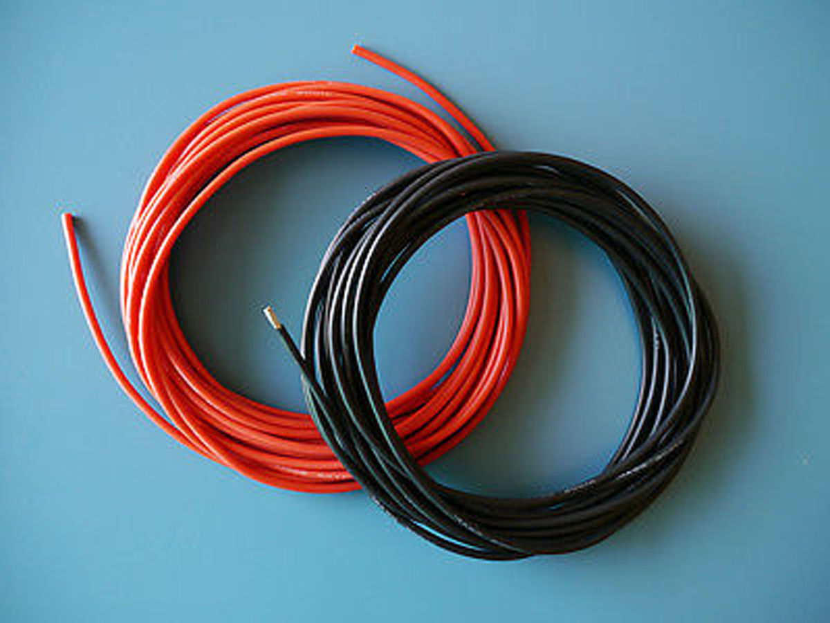$6.69 - 1 Pair 14 Awg / 14 Gauge Silicone Wires Silicon Cables (1M ...