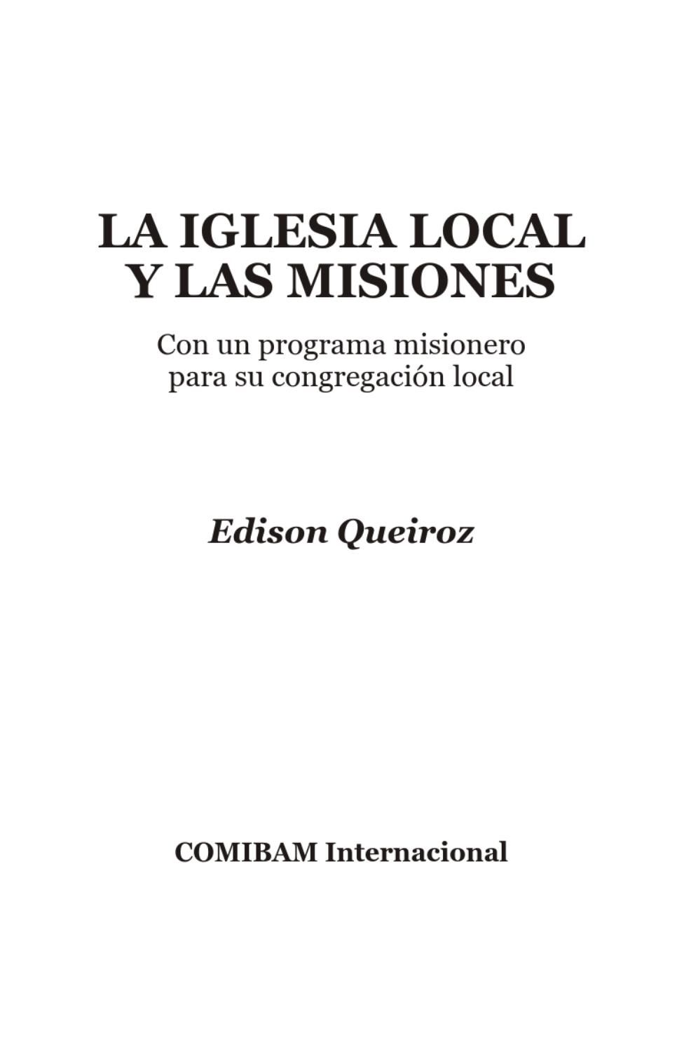 Iglesia Local Y Misiones Digital Publishing Author Newspapers