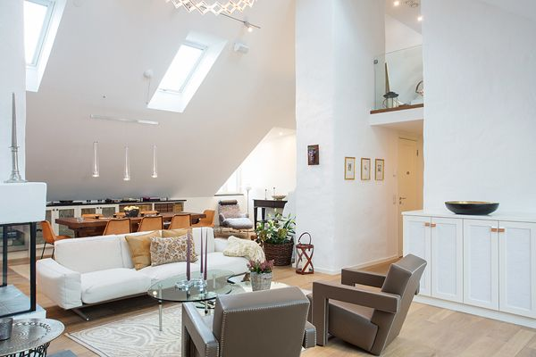 Tasteful duplex loft on the island of Kungsholmen