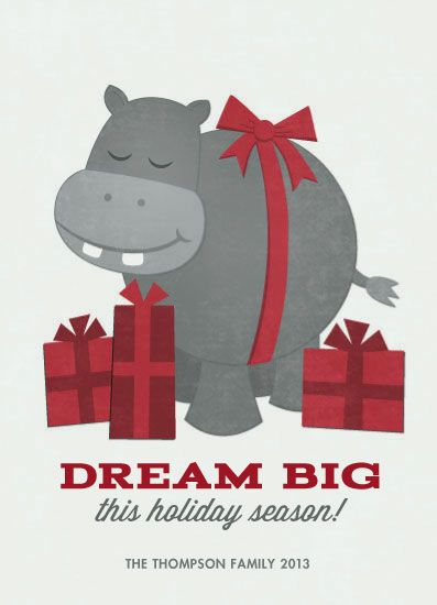 Non Photo Holiday Cards I Want A Hippopotamus Hippopotamus For Christmas Hippopotamus Cute Hippo