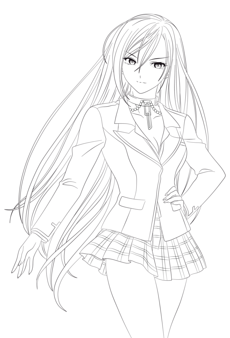 Moka Colouring Pages Anime Lineart Anime Drawings Tutorials Witch Coloring Pages
