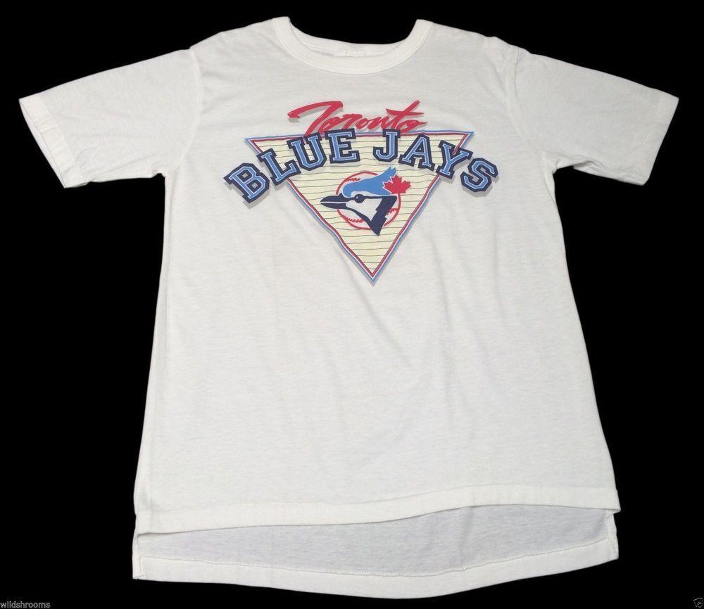 Vintage 80s (XL) Toronto Blue Jays White Shirt Baseball