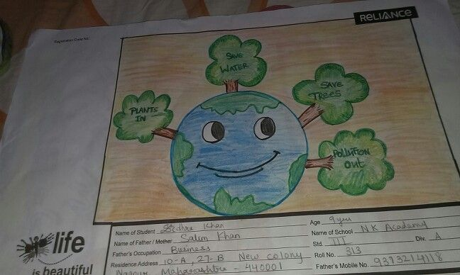 Go green made by sidhra khan class 4th