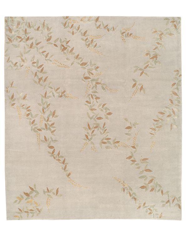 Tufenkian Artisan Carpets Floral Golden Area Rug, 8' x 10'