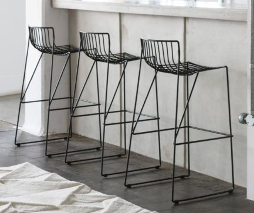 Black Wire Chairs Kitchen Interior Design Modern Contemporary