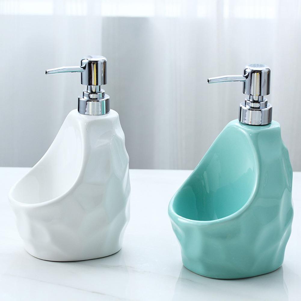 Ceramic liquid soap dispenser shampoo shower gel soap