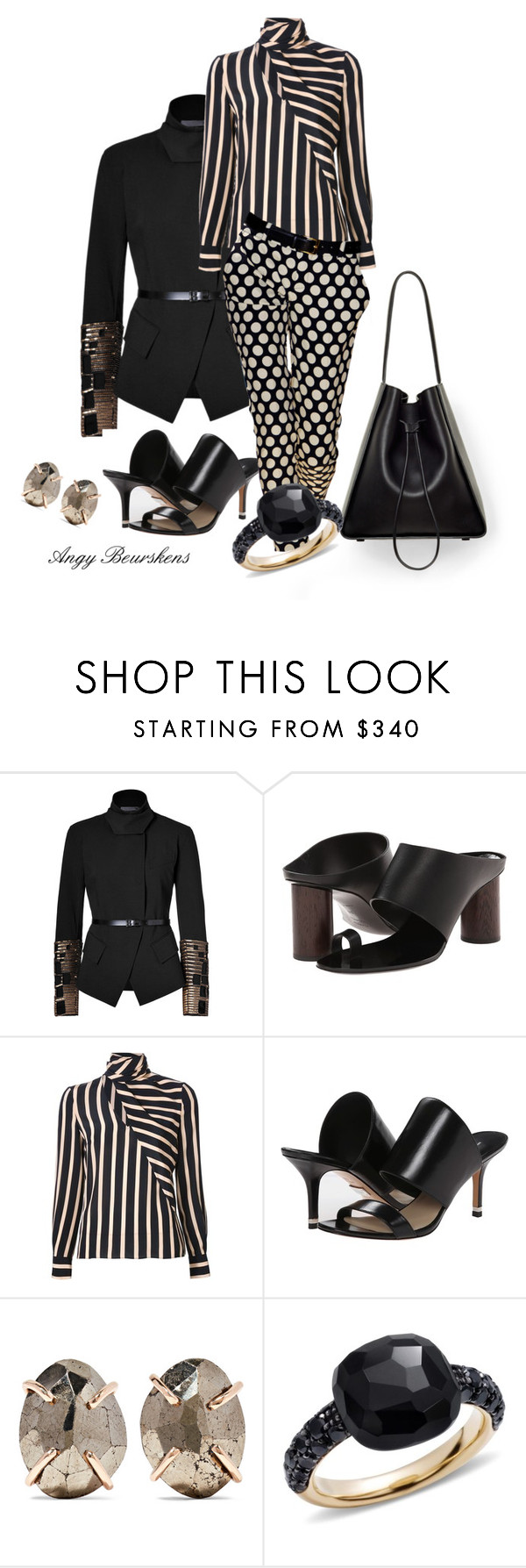 """Pattern Mix"" by angy-beurskens ❤ liked on Polyvore featuring Donna Karan, Proenza Schouler, Emanuel Ungaro, 3.1 Phillip Lim, Michael Kors, Melissa Joy Manning and Pomellato"