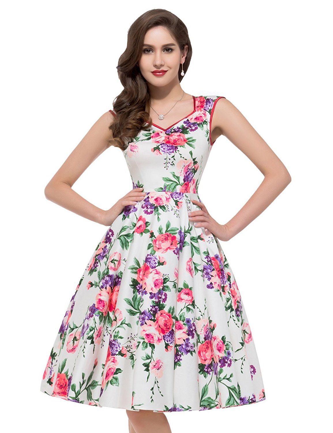 GRACE KARIN Women Floral Homecoming Prom Dress Short for ...