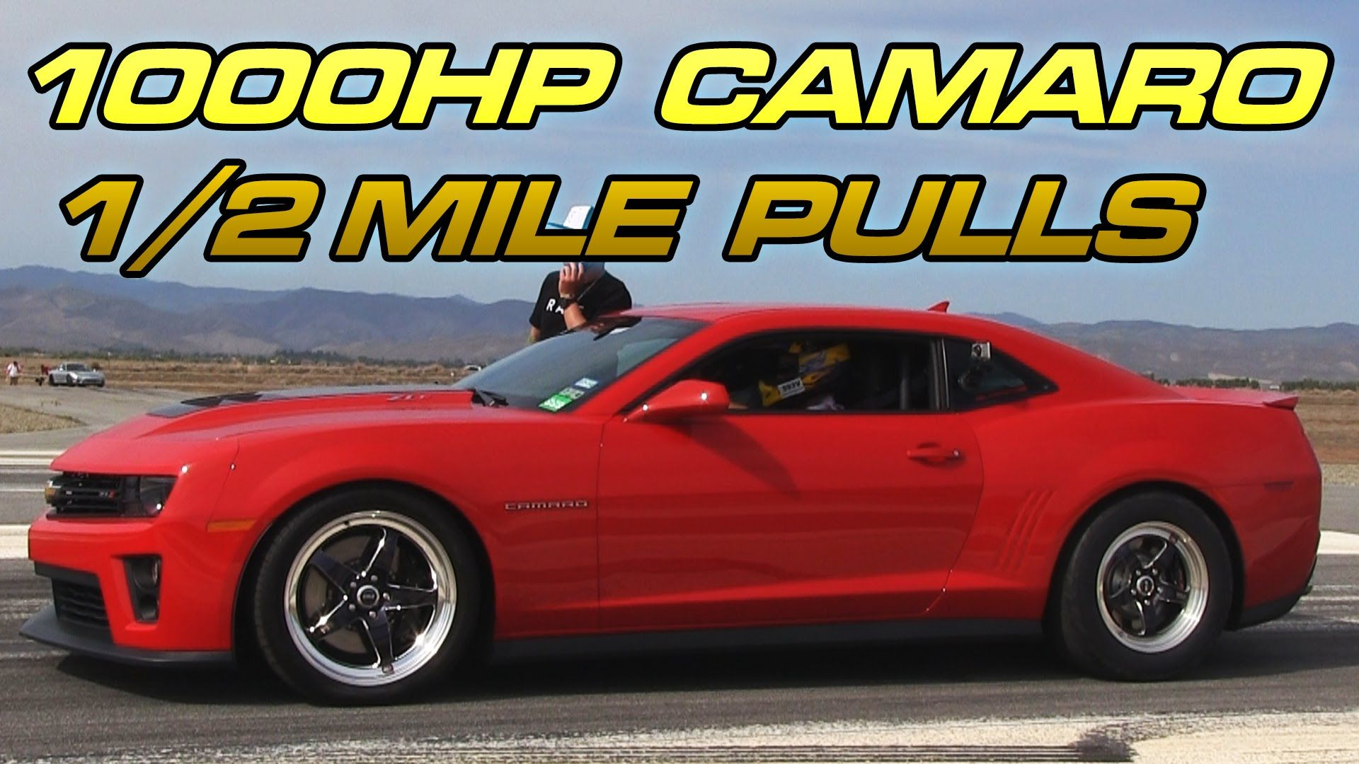 1000hp Twin Turbo Camaro Zl1 1 2 Mile Passes Cars