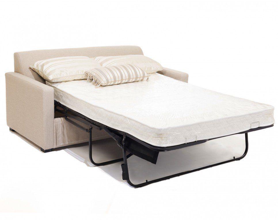 Furniture Light Brown Microfiber Loveseat Sleeper Sofa With White