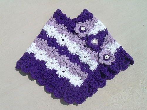 Daisy Garden Crochet Poncho Pattern Crochet Poncho Toddler Poncho