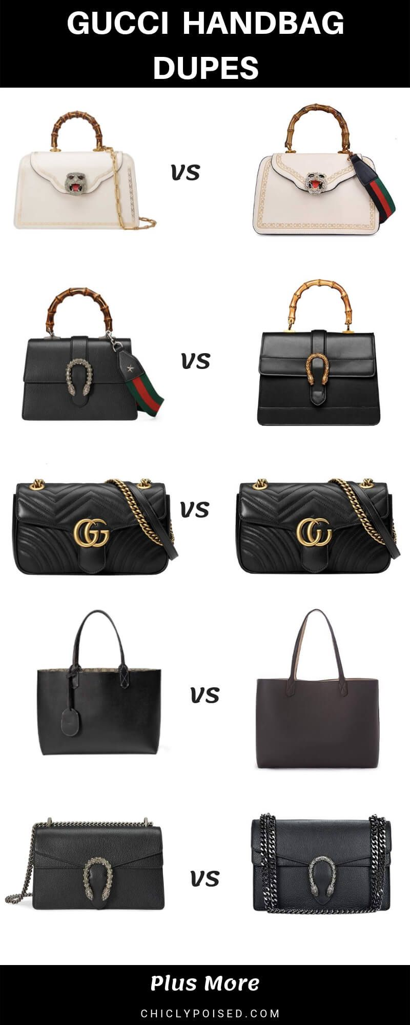 7be5c885777 Gucci Dupes For Less #designerdupes #dupes #guccidupes #guccidupehandbags  #designerinspiredbags #splurgevssteal #deisgnerdupebags #gucci ...