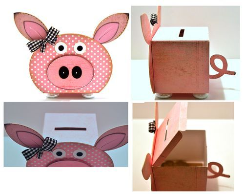 Piggy Bank Made Using The Block Set Http Thecuttingcafe Typepad