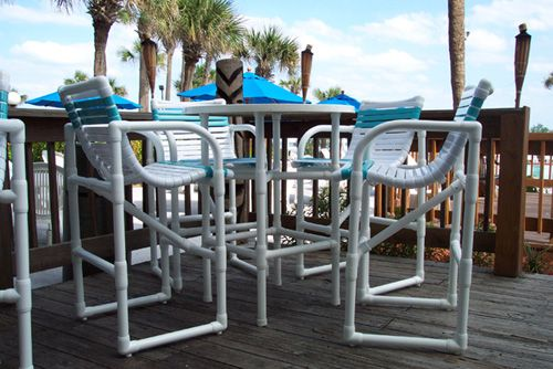 I 39 ve seen these pvc chairs and tables here in destin fl Pvc pipe outdoor furniture