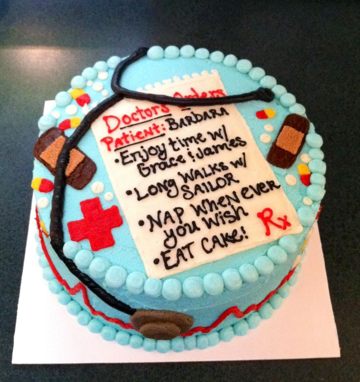 Nurse Retirement Cake With Images Retirement Party Cakes