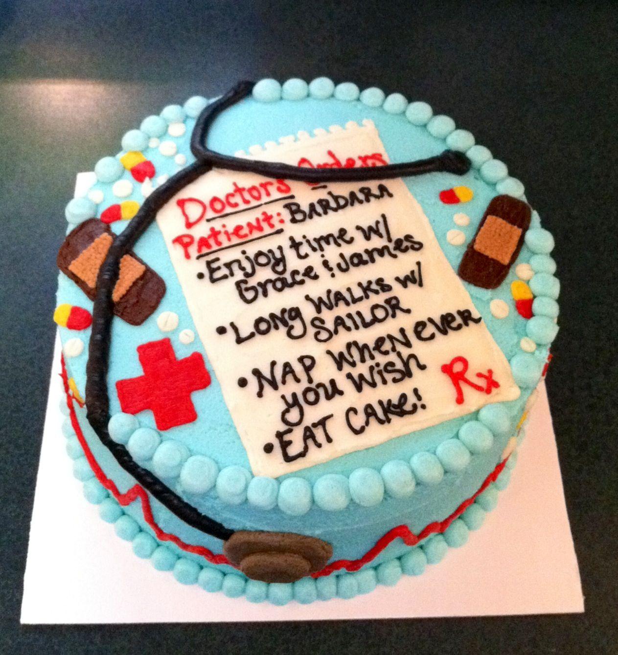 Nurse Retirement Cake MacyCakes Pinterest Retirement ...