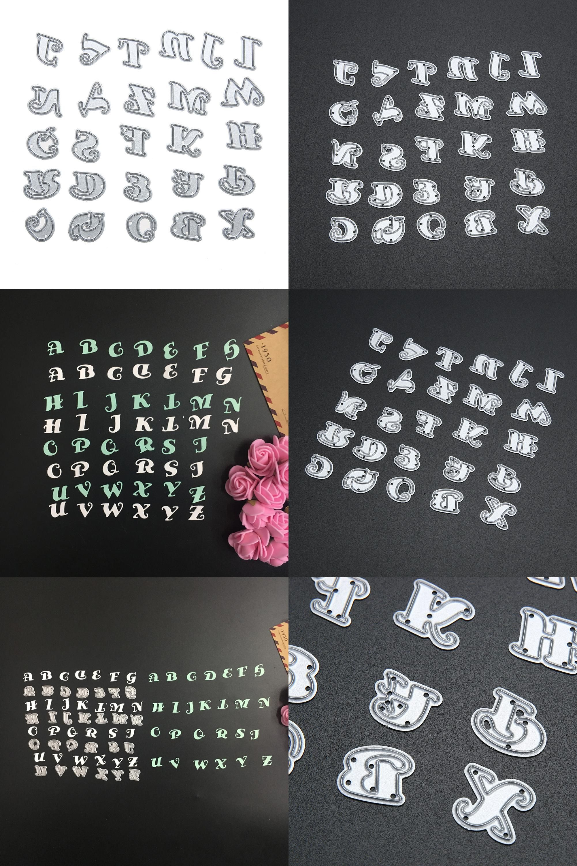 Alphabet Number Cutting Dies Stencils Scrapbook Paper Album Embossing Crafts