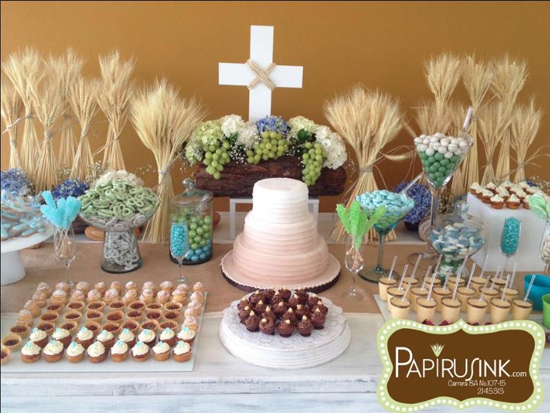 Mesa de dulces primera comuni n ni o postres decoraci n for Fiestas comunion decoracion