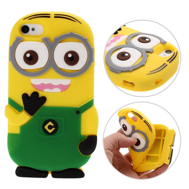 coque iphone 4 silicone minions