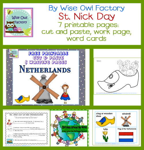 Christmas Around the World The Netherlands Free Resources | Wise ...