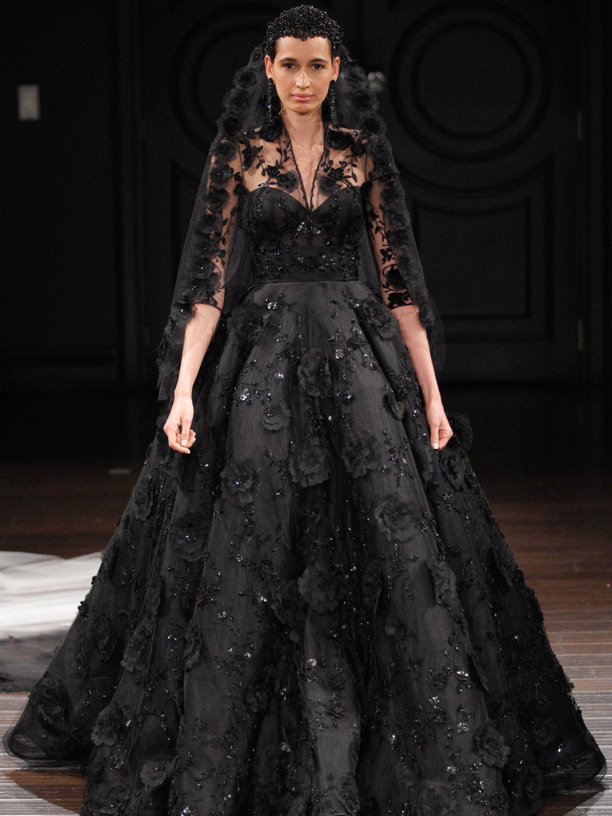 Schwarzes Hochzeitskleid | Hochzeitskleid, Hochzeitskleid ...