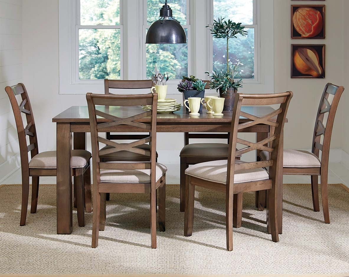 The Redondo 7 Piece Dinette Set Is A Casual Dining Room Addition Amazing Casual Dining Room Tables Design Ideas