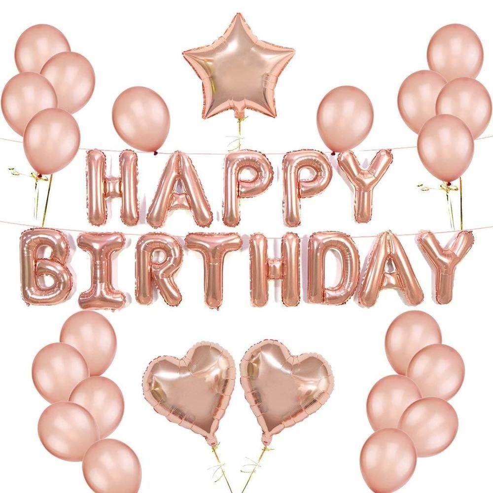 Pink Star Joyeux 13th Anniversaire Holographique Foil Balloon Party Décorations