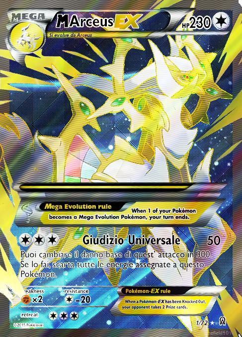 Mega Arceus EX by Hypernova99 Pokemon cards, Pokemon