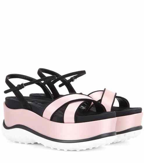 with mastercard Miu Miu Satin Platform Sandals discount newest dks41aZ
