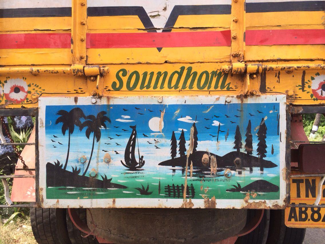 Truck Tamil Nadu Art, Art decor, Painting